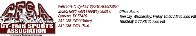 Cy-Fair Sports Association