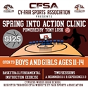 Picture of 2019 CFSA Basketball Spring INTO Action Clinic